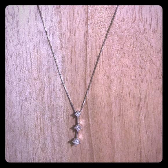 557bd03add3d4 Diamond drop necklace